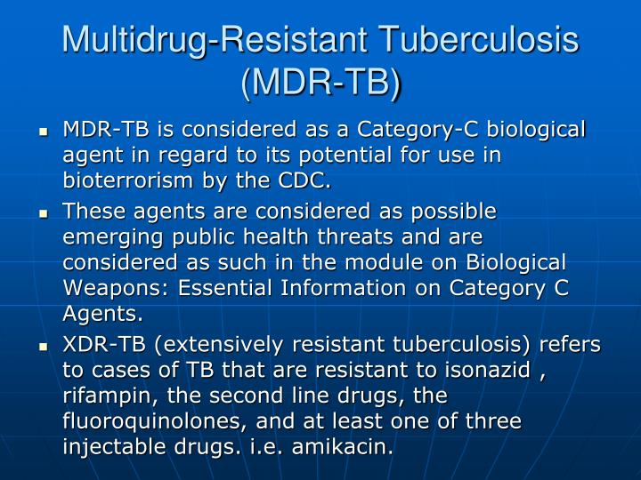 Multidrug resistant tuberculosis mdr tb