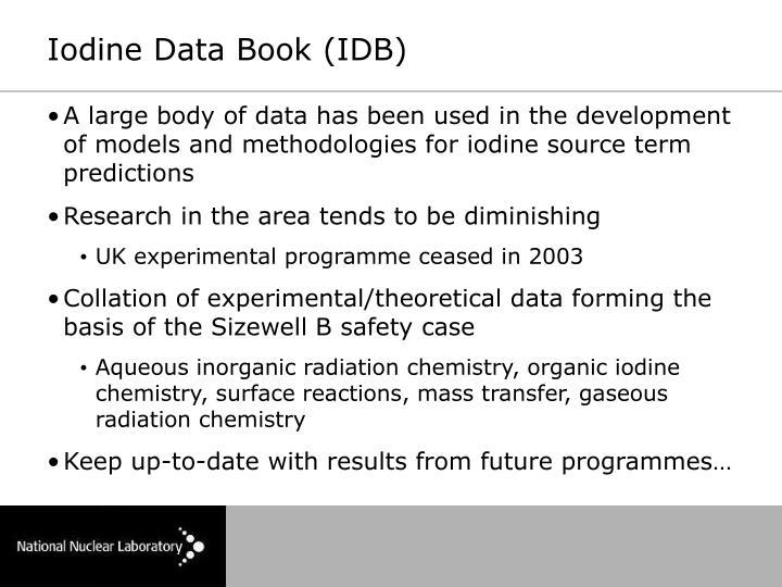 Iodine Data Book (IDB)