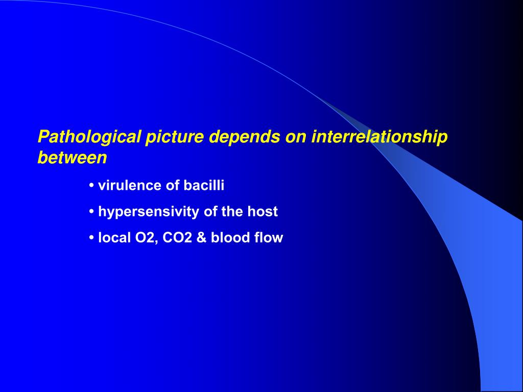Pathological picture depends on interrelationship between