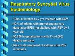 respiratory syncytial virus epidemiology