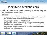 identifying stakeholders