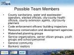 possible team members
