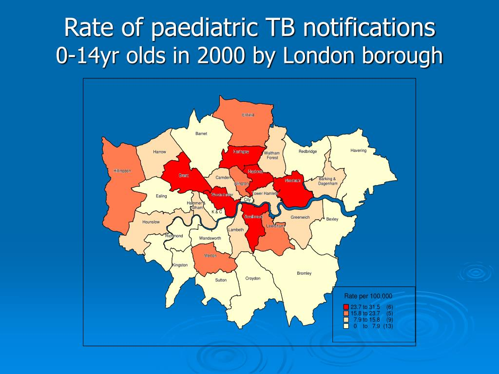 Rate of paediatric TB notifications