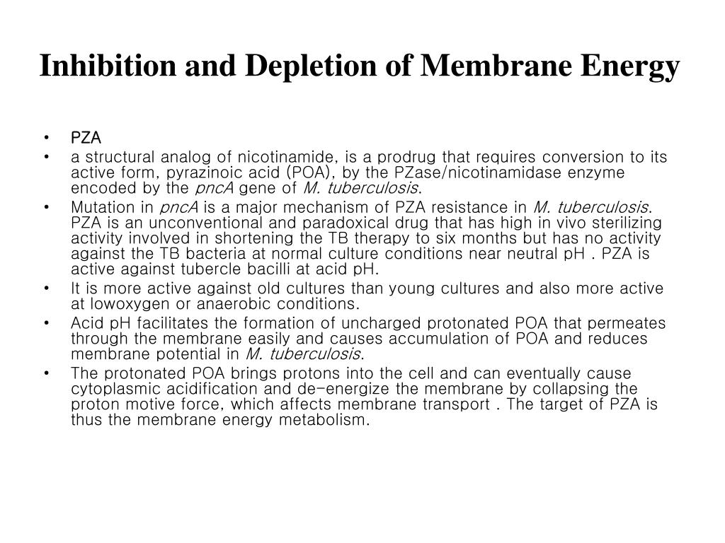 Inhibition and Depletion of Membrane Energy