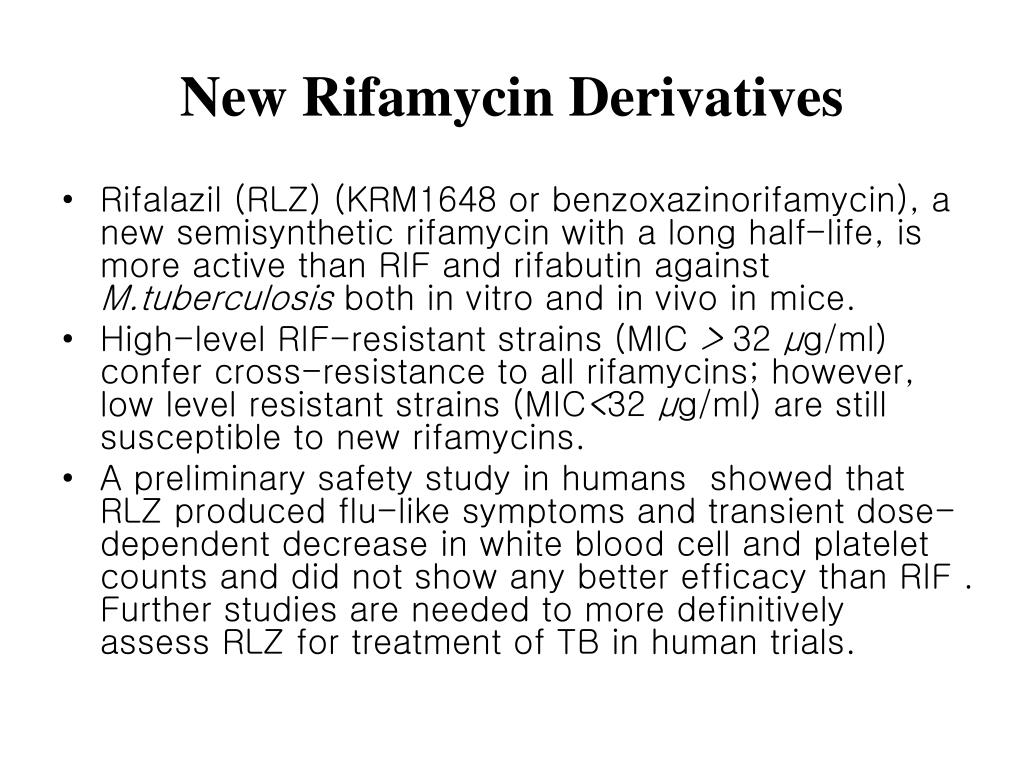 New Rifamycin Derivatives