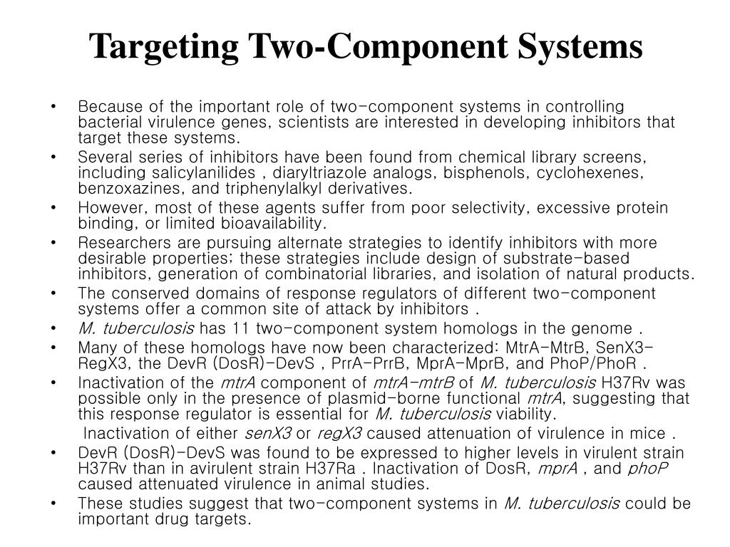 Targeting Two-Component Systems