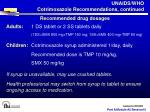 unaids who cotrimoxazole recommendations continued