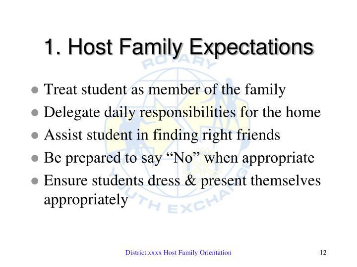 1. Host Family Expectations