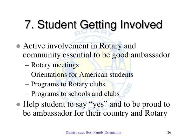 7. Student Getting Involved