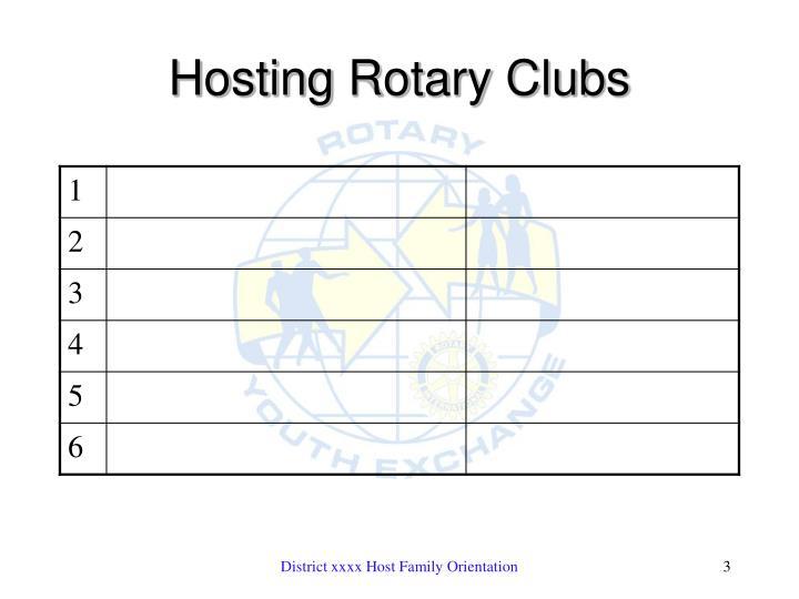 Hosting rotary clubs