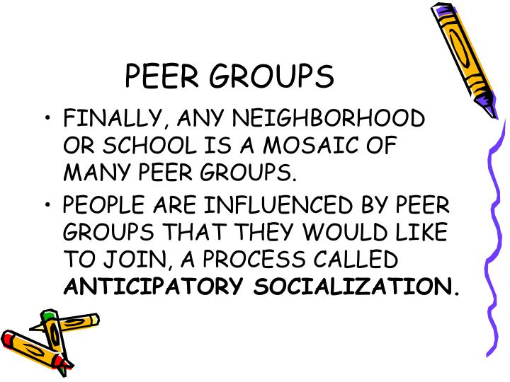 influence of peer groups