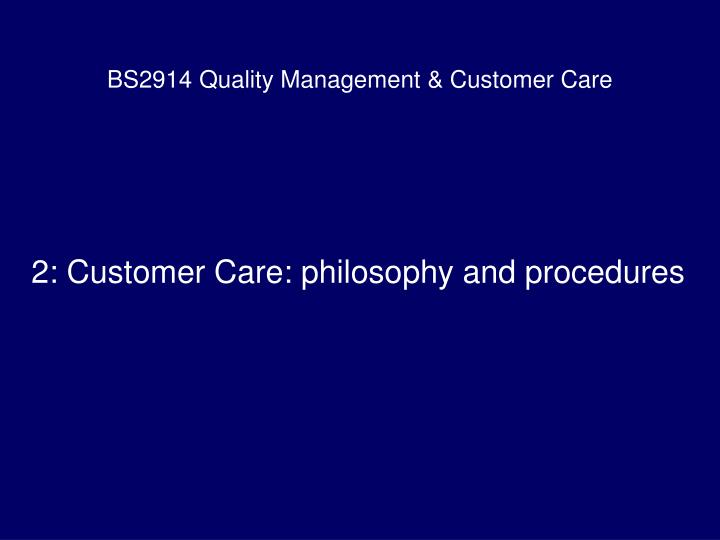 bs2914 quality management customer care n.
