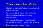 primary tuberculous infection