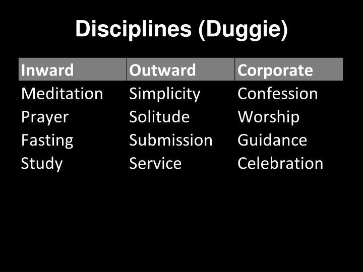 Disciplines (Duggie)