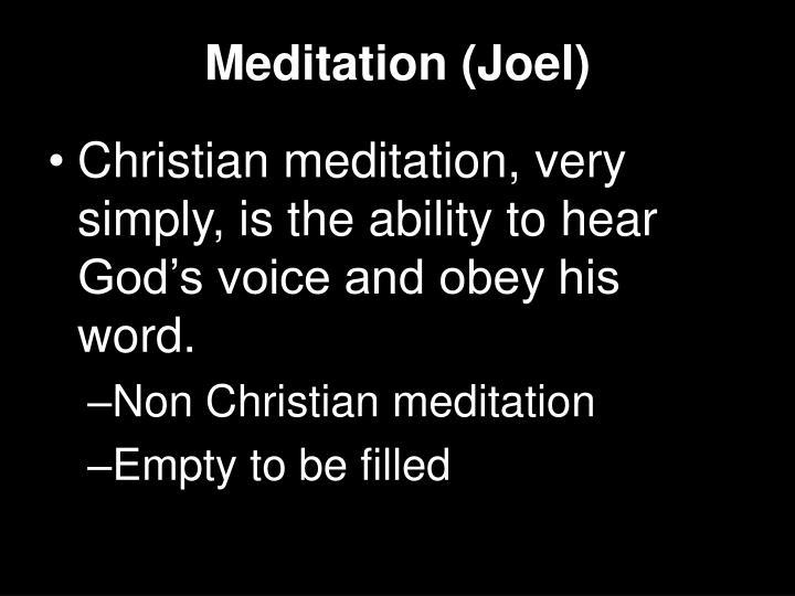 Meditation (Joel)