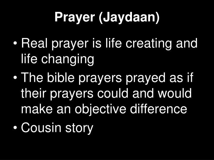 Prayer (Jaydaan)