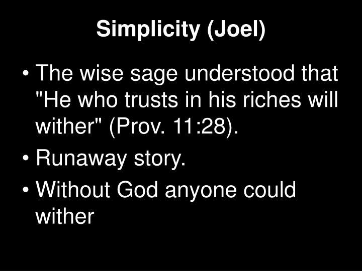 Simplicity (Joel)