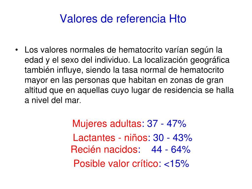 valores normales de hematocrito en hombres adultos