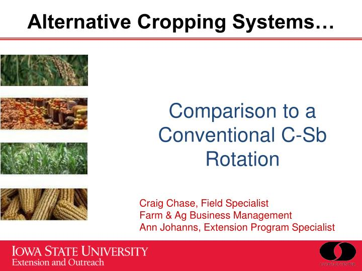 alternative cropping systems n.