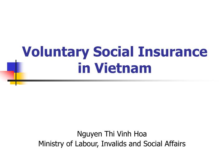 voluntary social insurance in vietnam n.