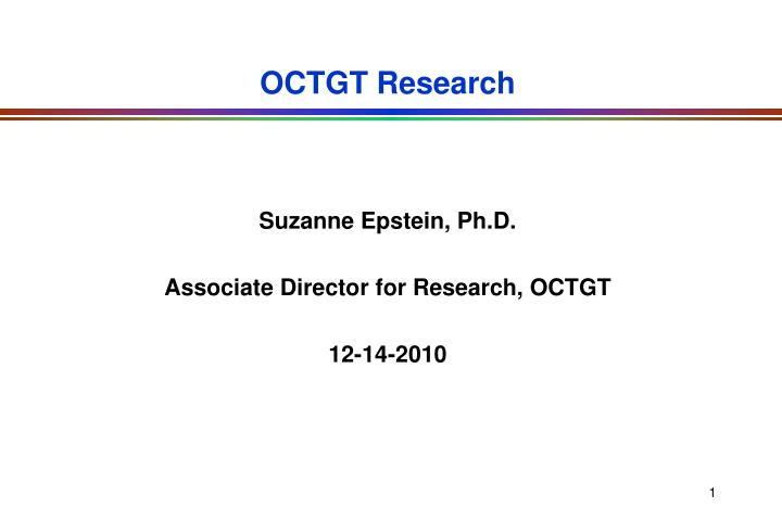 octgt research n.