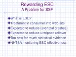 rewarding esc a problem for ssf