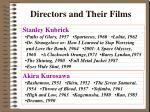 directors and their films