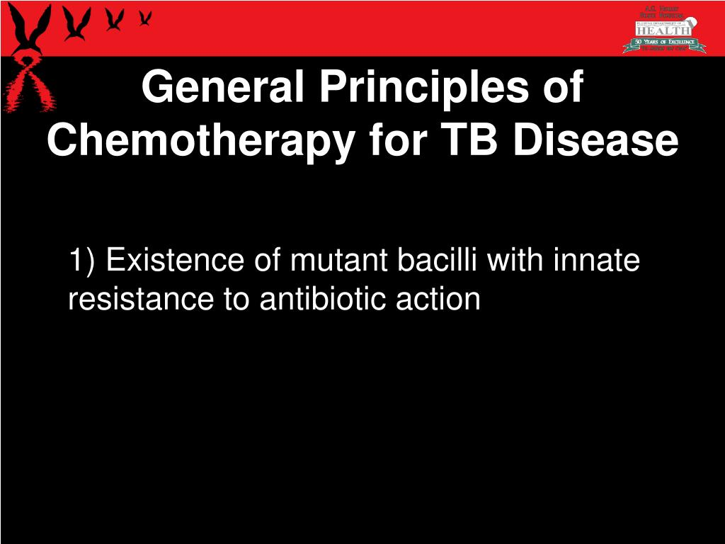 1) Existence of mutant bacilli with innate resistance to antibiotic action