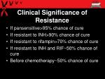 clinical significance of resistance