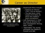 career as director