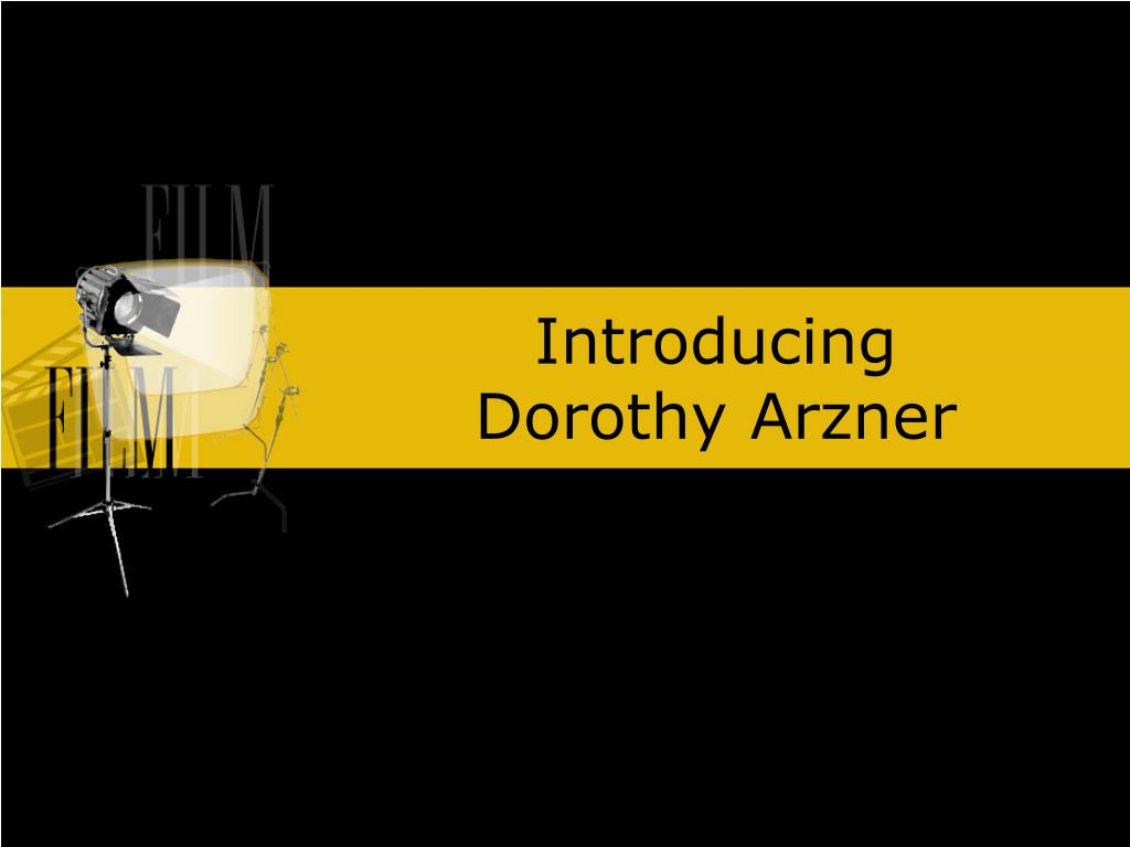 introducing dorothy arzner l.