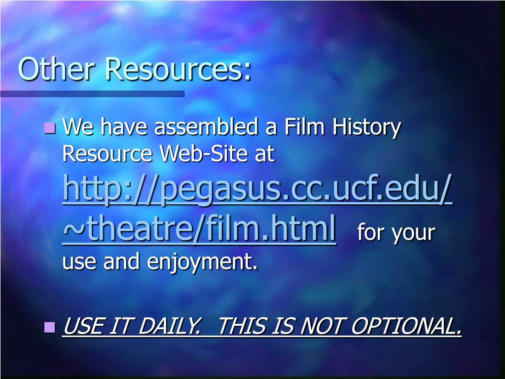 Other Resources: