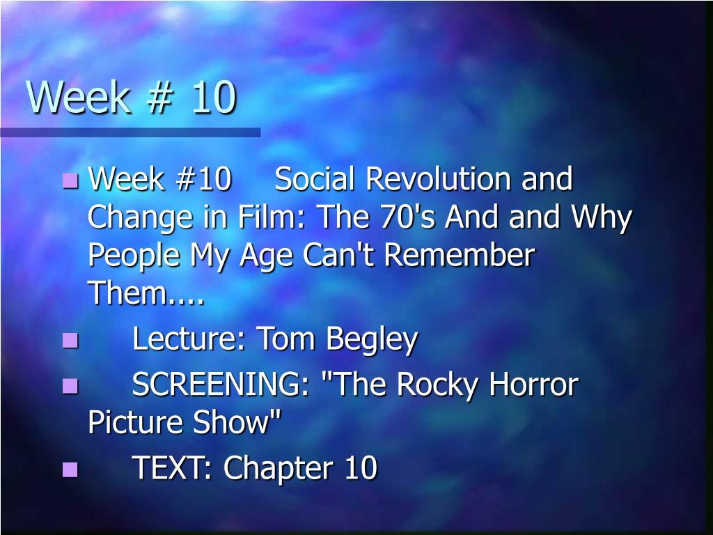 Week # 10