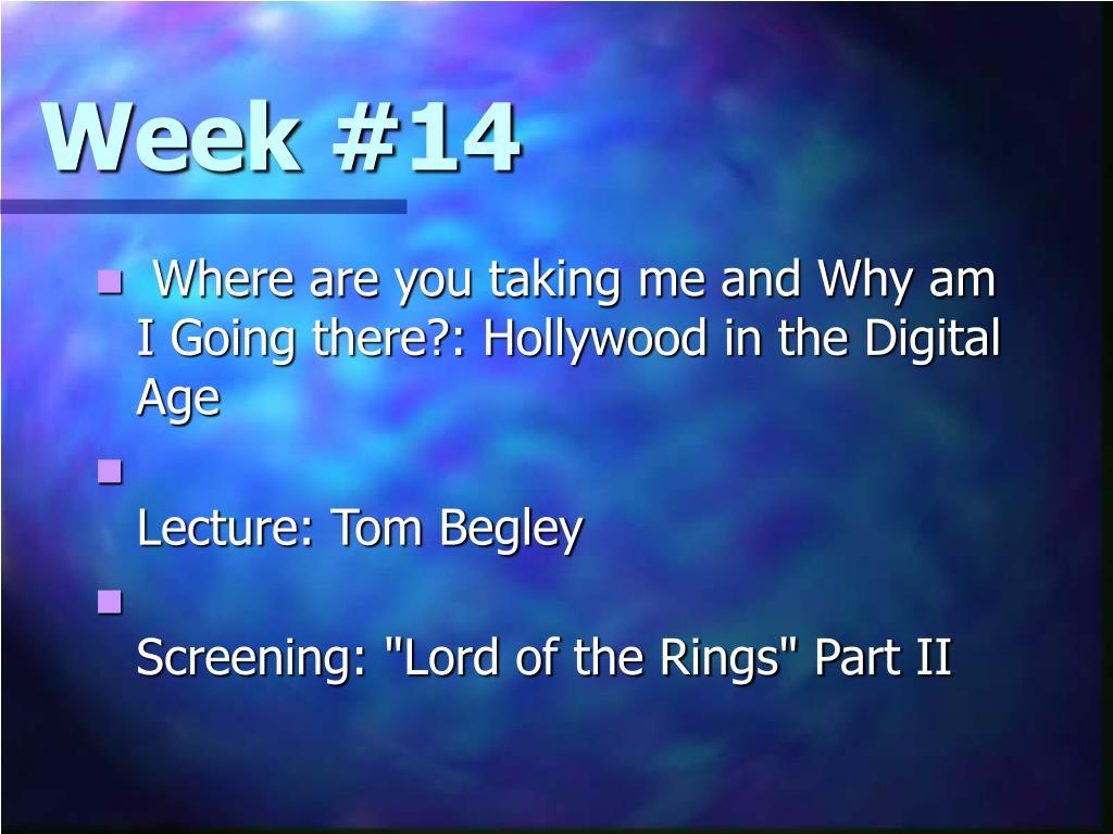 Week #14