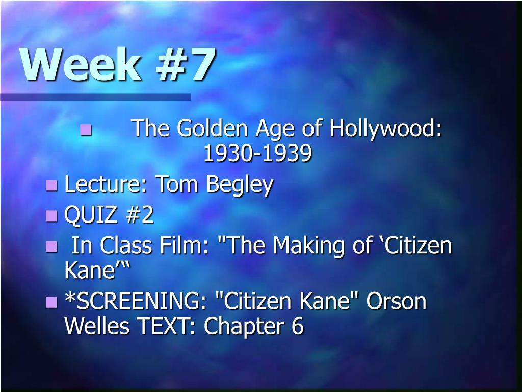 Week #7