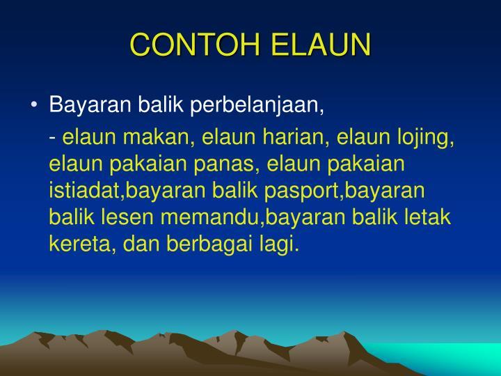 CONTOH ELAUN