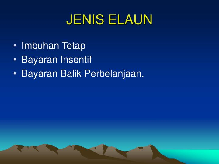 JENIS ELAUN