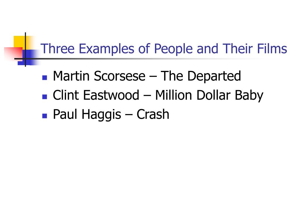 Three Examples of People and Their Films