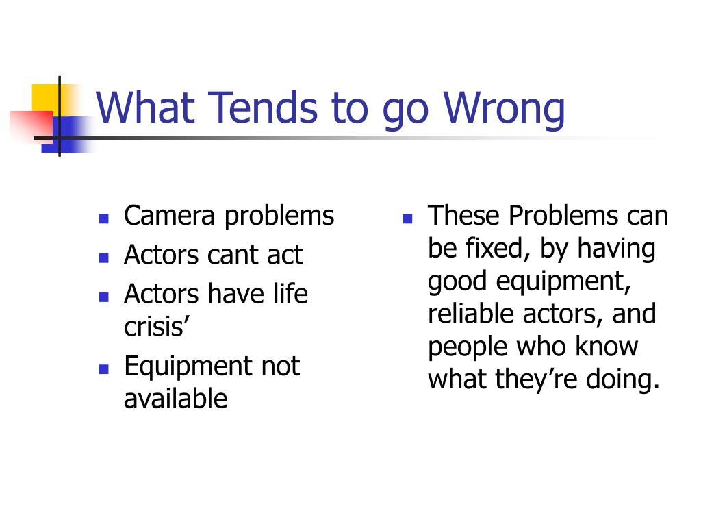 Camera problems
