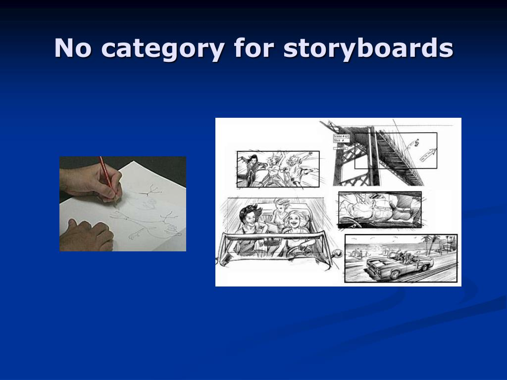 No category for storyboards