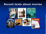 recent texts about movies