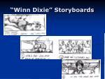 winn dixie storyboards