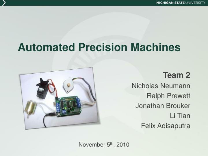 automated precision machines n.