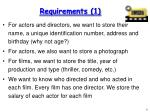 requirements 1