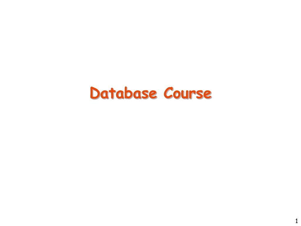 database course l.