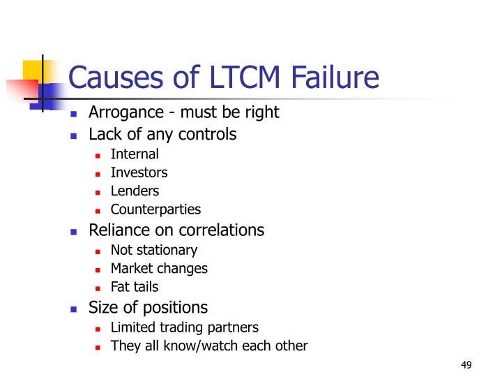 Causes of LTCM Failure