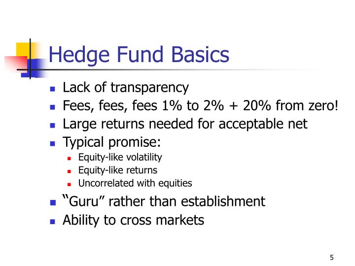 Hedge Fund Basics