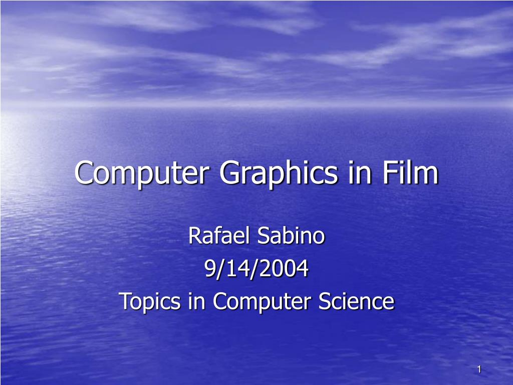 computer graphics in film l.