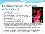 french new wave more works fahrenheit 451