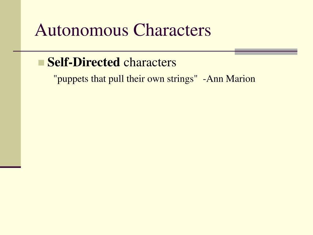 Autonomous Characters